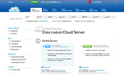 Aruba Cloud: pannello gestione data center