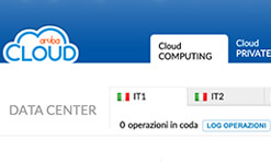 Aruba Cloud: pannello scelta data center
